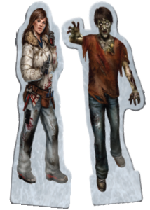 """Shying away from the popular """"Plastic Minis"""" approach, Dead of winter has some great artwork standies instead"""