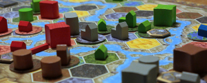 The board is quickly filled with sprawling metropolises